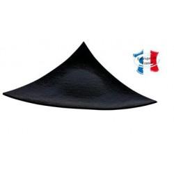 Assiette Triangle Noire